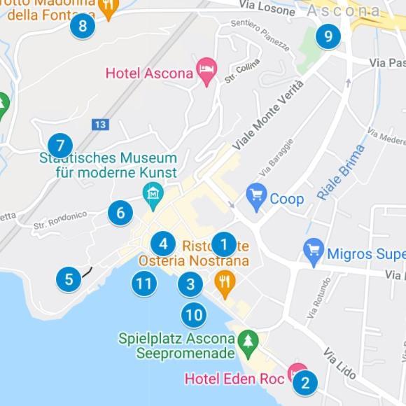Karte Find-the-Code Ascona