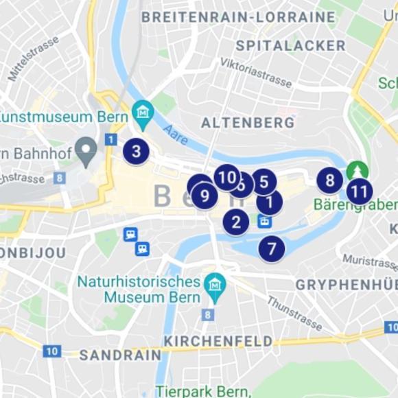 Karte Find-the-Code Bern