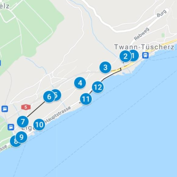 Karte Find-the-Code Twann-Ligerz