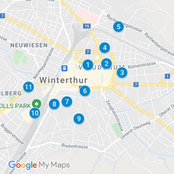 Karte Winterthur